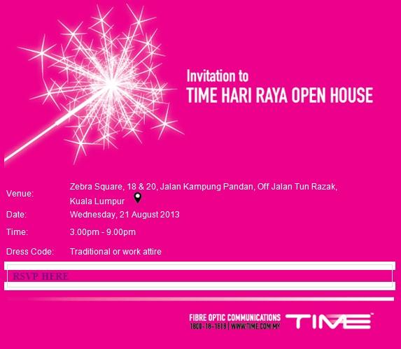 Hari raya open house invitation card invitationswedd time hari raya open house swis com my stopboris Images